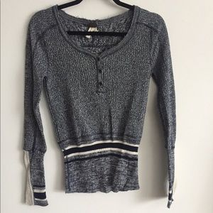 Free People We the Free Thermal Crochet Sweater S